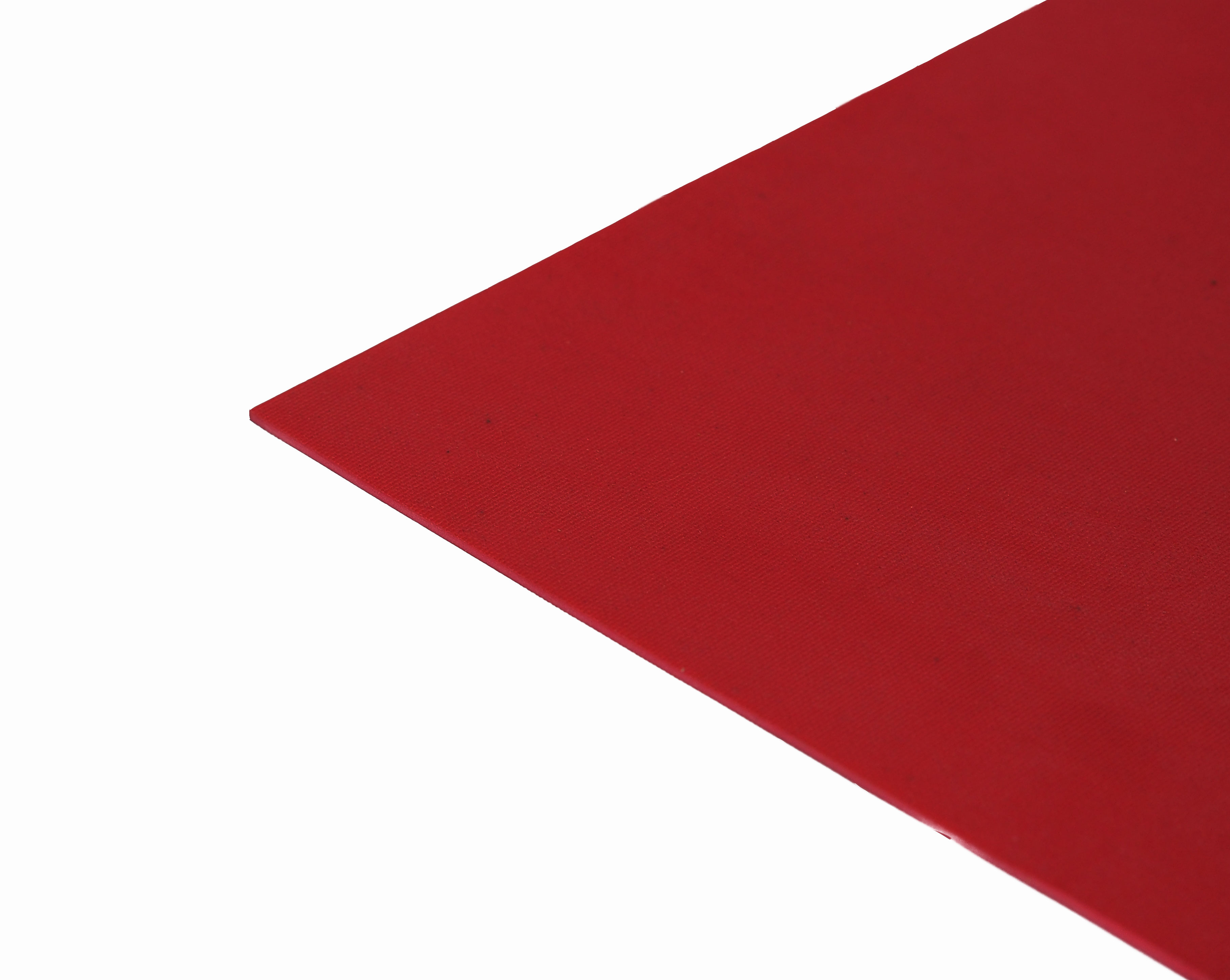 1077 Red 40° Shore Cloth Marked Abrasion Resistant Natural (NR) Rubber Sheet