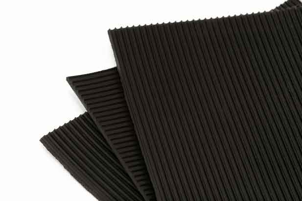 0360 450v Black Ribbed Electrical Insulation/Switchboard Matting