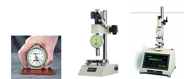 Durometer for rubber hardness testing