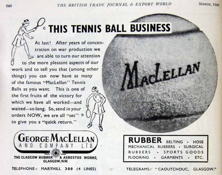 George MacLellan and the tennis ball
